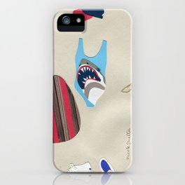 Shark Bathing Suit Outfit iPhone Case