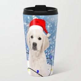 Golden Retriever Holidays Christmas Snow Travel Mug