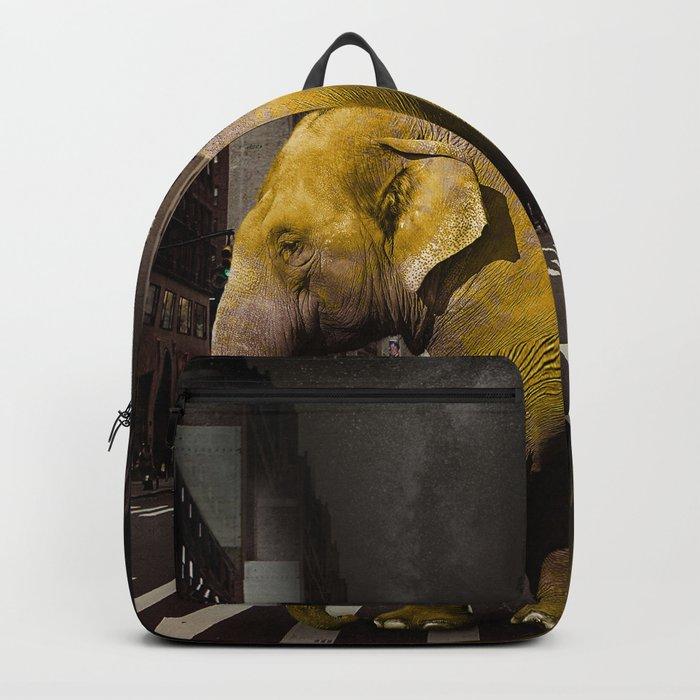 Elephant in New York Backpack