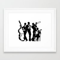 band Framed Art Prints featuring Band by David Chestnutt