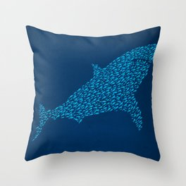 School Of Camouflage Throw Pillow