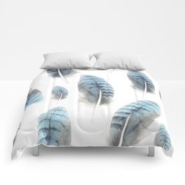 Blue Feather Seamless Pattern Comforters