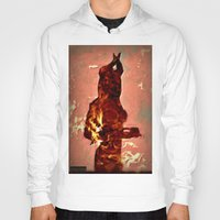 devil Hoodies featuring Devil by Eve Divyn