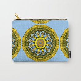Floral mandala-style, sunflower Carry-All Pouch