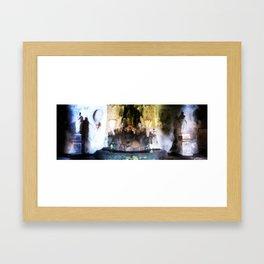 Rome Underground Fountain Framed Art Print