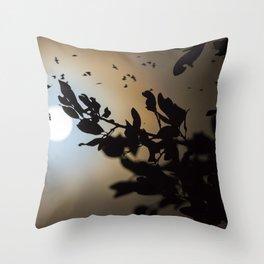 Bats in a Full Moon on Halloween Throw Pillow