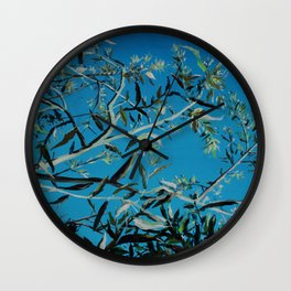 Olive branches in Florence Wall Clock