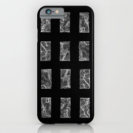 Minimal Grid in Black and White iPhone Case