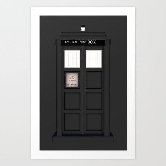 It's The Tardis!!!! (Variant) Art Print