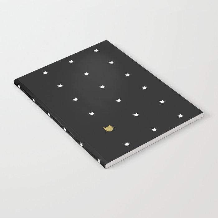 One Golden Cat  Notebook