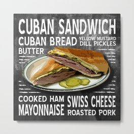 Cuban Sandwich Metal Print