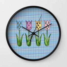 Tulip Row II Wall Clock