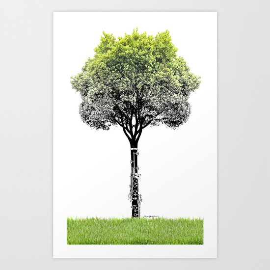 Rooted Sound V (clarinet) Art Print