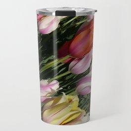 Field of Rainbow Tulips in Albany, NY Travel Mug