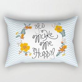 Flower  in love Rectangular Pillow