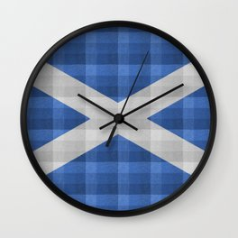 Saltire Duncarron Plaid Wall Clock