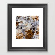 wintery oral Framed Art Print