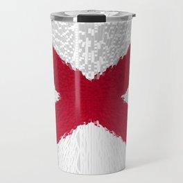 Extruded flag of Alabama Travel Mug