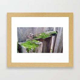 Derelict Fence Framed Art Print