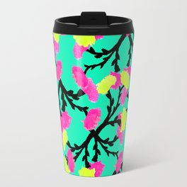 Watercolor Roses Pink Yellow Travel Mug
