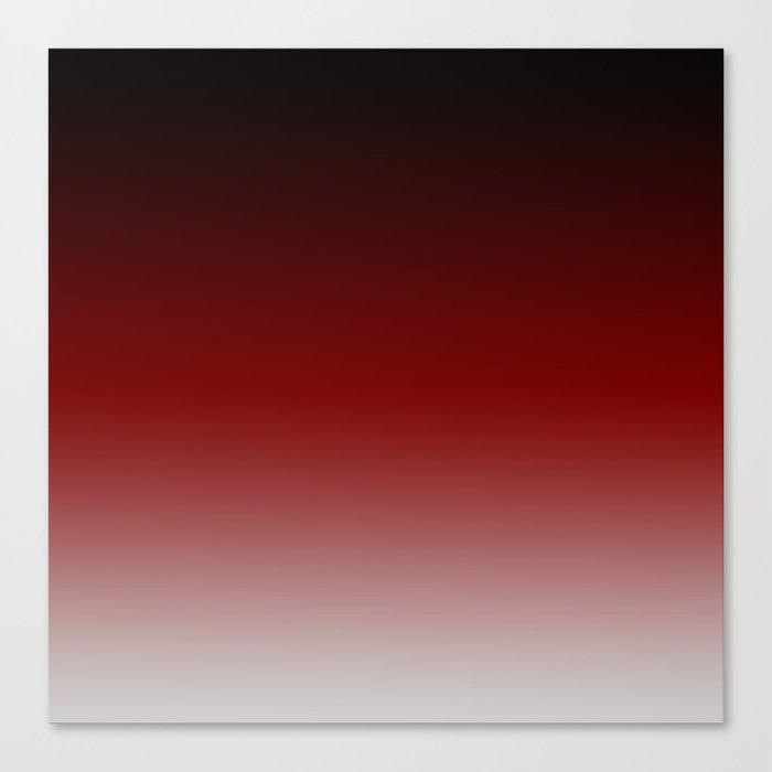 Tecumsehv - Black Red White Color Gradient Leinwanddruck