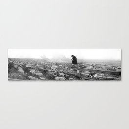 Old Time Gojira Canvas Print