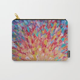 SPLASH - WOW Dash of Cheerful Color, Bold Water Waves Theme, Nature Lovers Modern Abstract Decor Carry-All Pouch