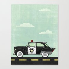 Atomic County Police Canvas Print