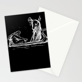 Norse Myth Frigg and Odin Sailing In Fensalir Stationery Cards