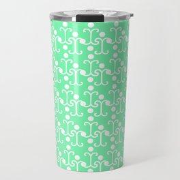 Lattice Pattern (Mint) Travel Mug