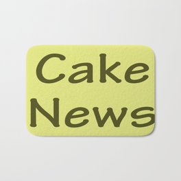 Cake News - Allusion to May in Salzburg Bath Mat