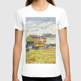 Classical Masterpiece 'End of the Trolley Line' by Frederick Childe Hassam T-shirt