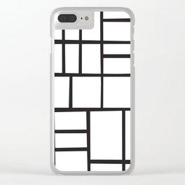 Mondrian Variation 4 Clear iPhone Case