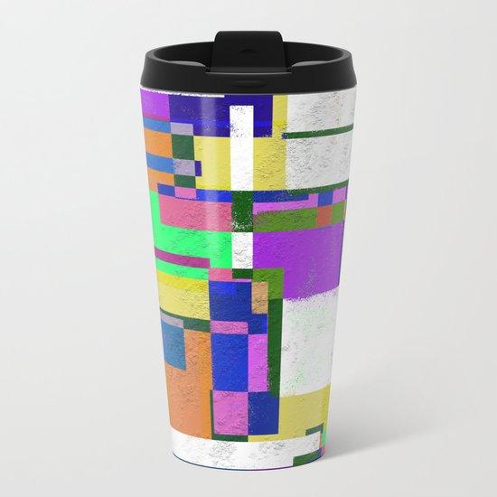 Pastel Geometry Metal Travel Mug