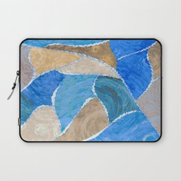 blue smeared patchwork Laptop Sleeve