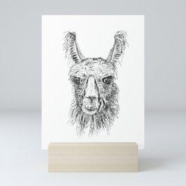 Llama Said Knock You Out Mini Art Print