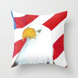 Eagle And Flag Throw Pillow