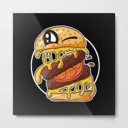 Fast Food FRENZY - Cheezy Sally Metal Print