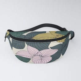 Jungle Summer Floral and Texture Fanny Pack