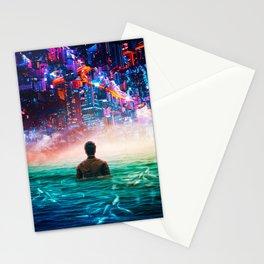 Under City Lights Stationery Cards
