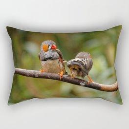 Shake that Booty, Zebra Finch! Rectangular Pillow