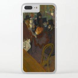 Henri de Toulouse-Lautrec - At the Moullin Rouge Clear iPhone Case