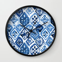 Arabesque tile art Wall Clock