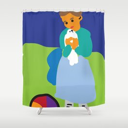 Child with a Dove | Pablo Picasso Shower Curtain