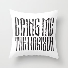 BMTH Lettering Throw Pillow