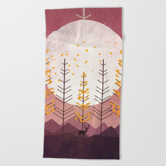 Sunset Mountain Beach Towel