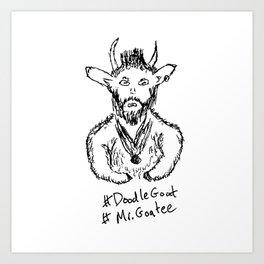 Mr. Goatee Art Print
