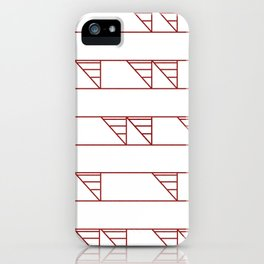 Triangle Pattern - Maroon iPhone Case