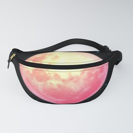 Red Moon Illustration Fanny Pack