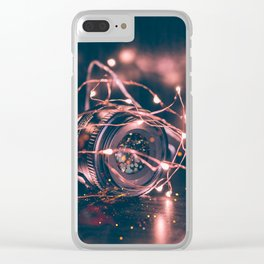 Wish on stars Clear iPhone Case